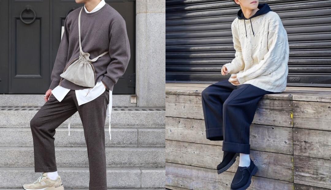 ニット・セーターとシャツやパーカーの重ね着のコツ!メンズの重ね着のコーデも紹介!