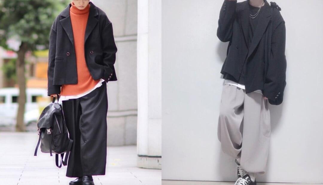 テーラードジャケット(黒)のメンズの秋コーデ!人気の黒テーラードジャケットをご紹介!