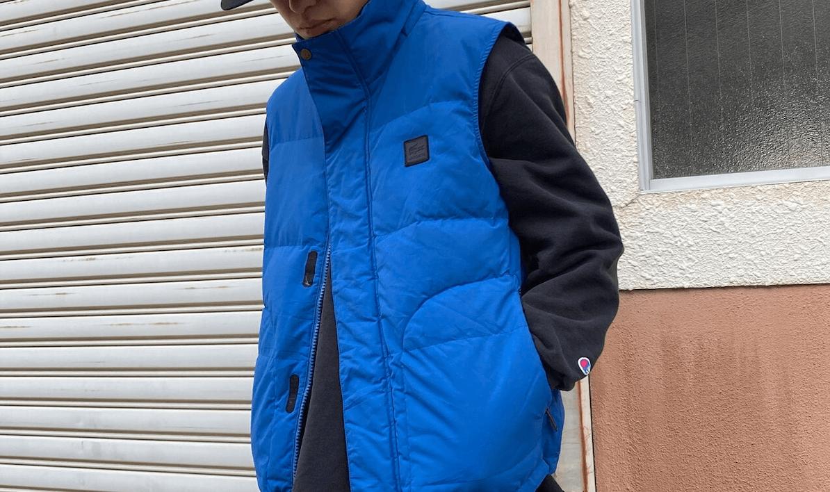 ダウンベスト(青)のメンズの秋冬のコーデ!人気の青ダウンベストを紹介!